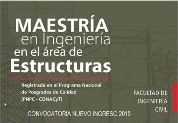 Ingeniería Civil abre posgrado en el área de Estructuras