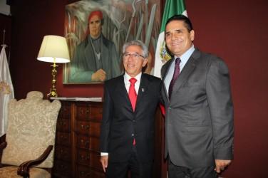 Silvano Aureoles, gobernador electo, se reunió con Salvador Jara