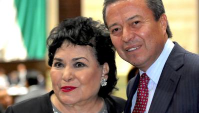 Carmen Salinas y Cesar Camacho PRI