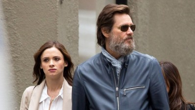 Cathriona White y Jim Carrey 18 de mayo en Nueva York Crédito: Grosby Group