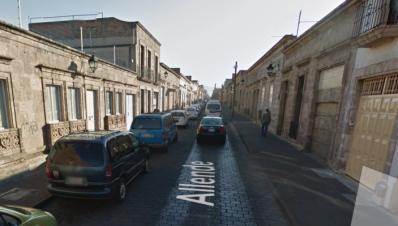 Calle de Allende de Morelia Michoacán