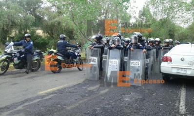 Policias antimotines listos para enfrentar a los médicos en Morelia