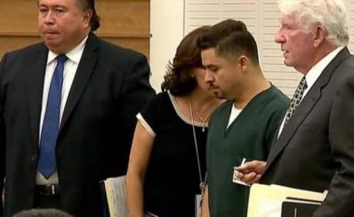 Larry Hernández en la corte