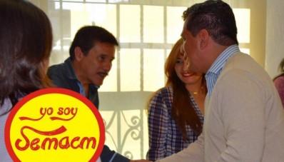 El lider del SEMACM llega acuerdos con autoridades Municipales