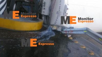 Derrame de combustible en salida a Salamanca Morelia pipa fuga