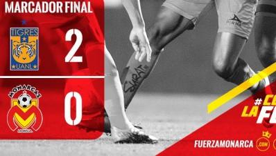 Monarcas Morelia pierde ante Tigres Monterrey 0 a 2 en clausura 2016