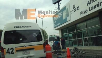 Reparaciones causan embotellamiento en Av Solidaridad de Morelia