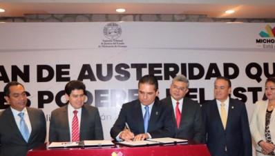 Acuerdo de Asuteridad en los tres poderes de Michoacán Silvano Aureoles Conejo