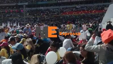 Estadio Morelos de Morelia visita del papa 3 pm una hora antes del evento 2