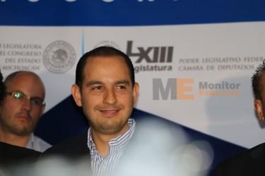 Marko Cortés Mendoza coordinador de la bancada del PAN en el Cámara de Diputados