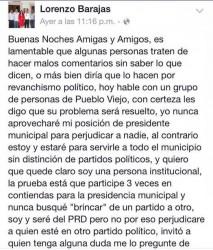 Facebook Lorenzo Barajas