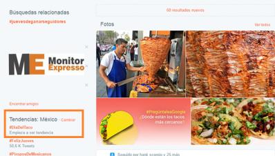 Redes Sociales Festejan el día del Taco