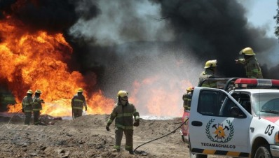 Quecholac incendio en ductos de Pemex