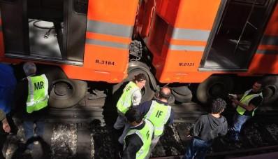 Descarrilan dos vagones de la Línea 5 del Metro