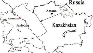 Ubicación geográfica donde fueron encontrados restos del Elasmotherium sibiricum