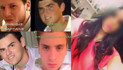 """Fotografía tomada de Internet/ Algunos miembros de """"Los Porkys de Costa de Oro"""""""