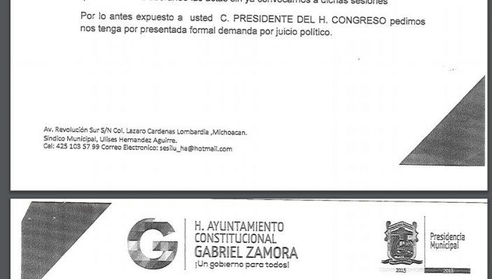 Juicio Político Gabriel Zamora Michoacán
