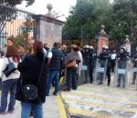 Manifestación de Sindicatos de Salud en Casa de Gobierno