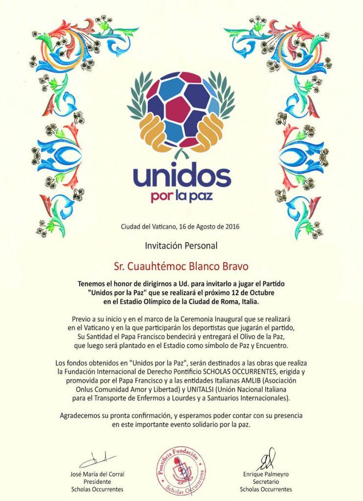 invitacion del vaticano a cuahtemoc blanco