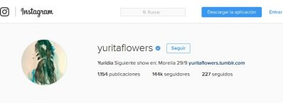 Instagram yuridia evento en Morelia