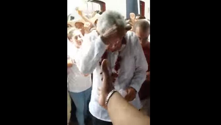 Candidato del PT declina a favor de Delfina Gómez