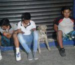 Detienen a perro y tres jóvenes
