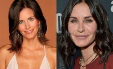 Courtney Cox antes y después