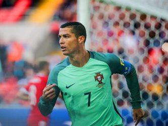 Cristiano Ronaldo anotando vs Rusia