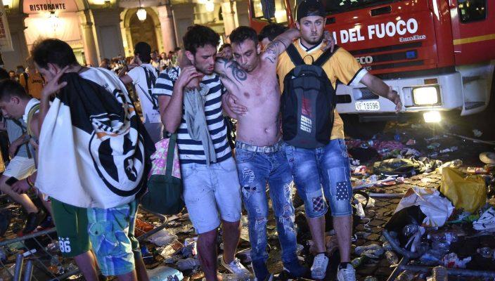 Se reporta estampida en la Plaza San Carlo de Turín