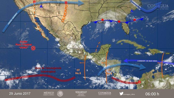 Tormenta tropical Dora se forma al sur del estado mexicano de Guerrero