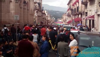 Marcha en Morelia Michoacán
