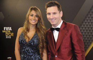 Messi y su futura esposa