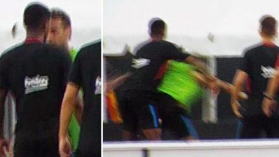 Neymar y Semedo se pelean
