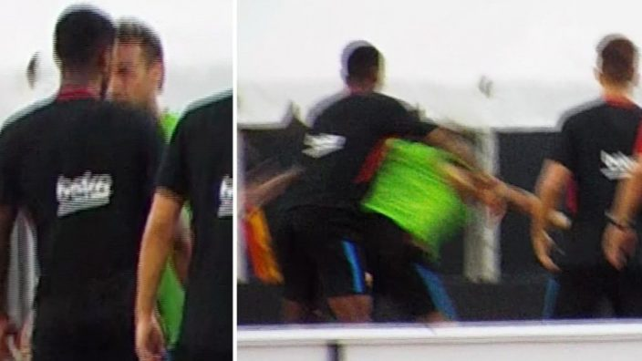 Neymar se encaró con Semedo en el entrenamiento