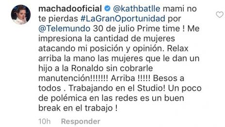 El toma y dame entre Alicia Machado y los fans de CR7