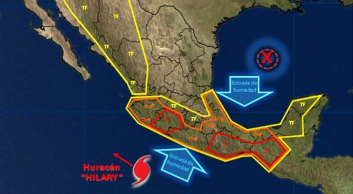 Se prevén, durante las próximas horas, tormentas intensas en Guerrero y Oaxaca