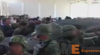 Multitud en Tepalcatepec Michoacán