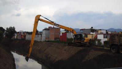 Obras de saneamiento en Morelia