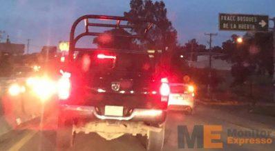 Policía Michoacán sin balizado