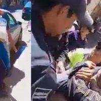 Reprueban en redes uso de la fuerza de Policía de Puebla contra vendedor (video)