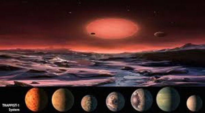 Astrónomos descubren indicios de agua en varios planetas del sistema TRAPPIST-1