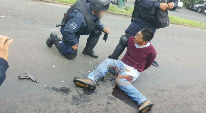 Un civil y un policía baleados por el presunto delincuente de Casa de Gobierno en Morelia