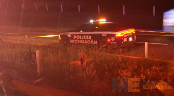 Arrollan a masculino en el crucero de Santiago Undameo en la Morelia – Pátzcuaro