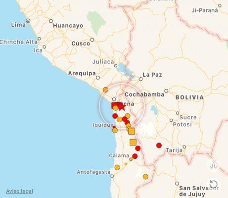 Sismo de magnitud 6,3 Ritcher sacudió al norte de Chile