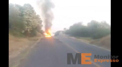 Huetamo Michaocán quema de carros