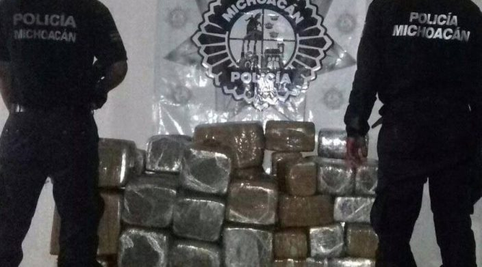 Casi 300 kg de marihuana decomisada en Turicato Michoacán