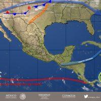 Frente frío No. 10 a territorio mexicano acompañado de lluvias para varios estados