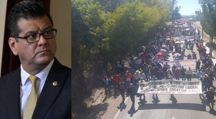 """Inventan """"Frida Sofía"""" en Michoacán, no hay registros de niño fallecido durante protesta de trabajadores"""