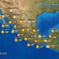 Clima estable para la mayor parte de México con temperaturas bajo cero en algunos estados