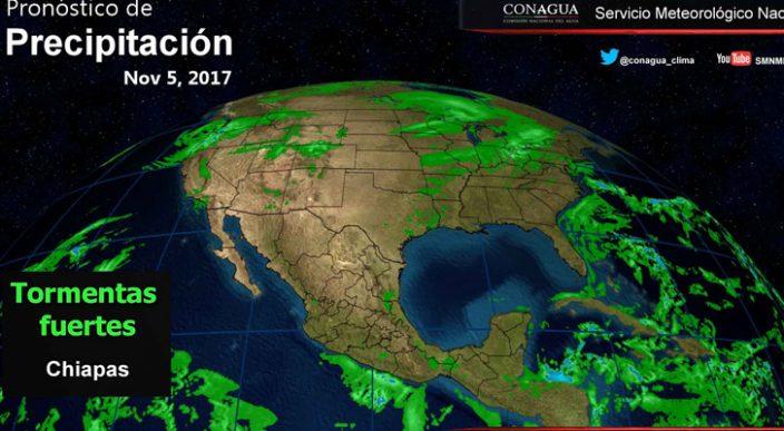 Ambiente seco y bajo potencial de lluvia en gran parte de México